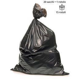 Sacchi spazzatura NERO MOLTO PESANTE 70 x 110 cm - Rotolo da 20 sacchi
