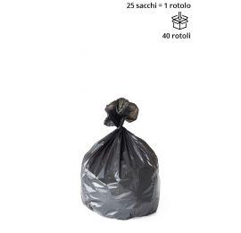 Sacchi cestino NERO 50 x 60 cm - Rotolo da 25 sacchi