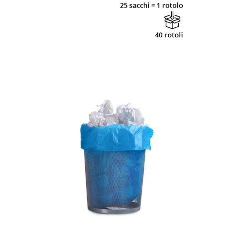 Sacchi cestino BLU 50 x 60 cm - Rotolo da 25 sacchi