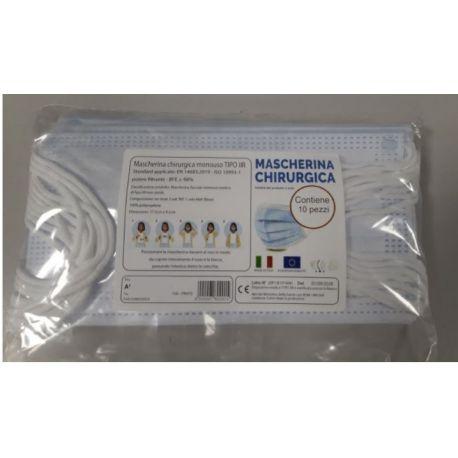 Mascherina Chirurgica Medica TIPO IIR marchiata CE - ITALIA